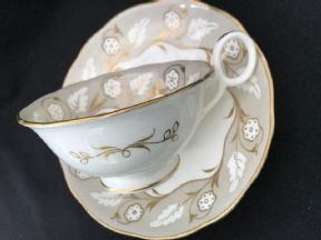 Unidentified Ring handled tea cup & saucer